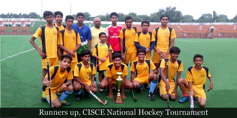 Runners up, CISCE National Hockey Tournament